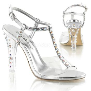 CLEARLY-426 Clr-Slv Metallic Pu - Pleaser