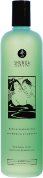 Shunga bath & shower gel mint 500ml