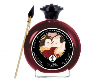 Shunga sparkling strawberry wine body painting 100ml