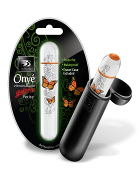 b3 onye petite butterfly vibrator orange (mini) - Big Teaze Toys